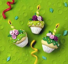 Clay Illustration-Cupcakes