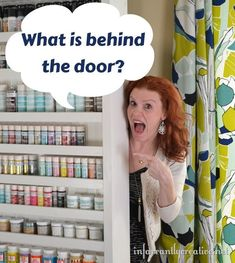 This is one of the most creative DIY projects ever! A hidden door shelf to store craft supplies. You won't believe what is behind the door! @Beckie 'beckerella' Munson Farrant {infarrantly creative}