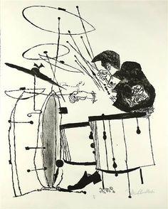 pinned from drew's grooveland David Stone Martin Illustration Art And Illustration, Musik Illustration, Illustrations, Kunst Inspo, Art Inspo, Cover Art, David Stone, Desenho Pop Art, Ben Shahn
