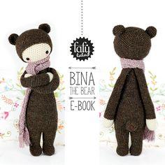*Dies ist eine HÄKELANLEITUNG im PDF-Format. NICHT die auf den Fotos abgebildete fertige Puppe!*   Das ist BINA!   Bina wohnt in einer gemütlichen Zweiraumhöhle zusammen mit seinem Haustier -...