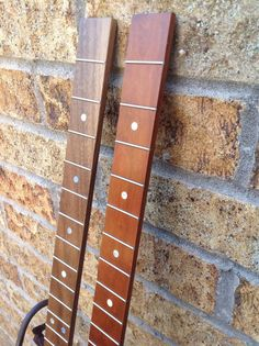 Cigar Box Guitar Fretboard (1) - Fretted Mother of Pearl Dot Inlay Fret Markers Item#FB7