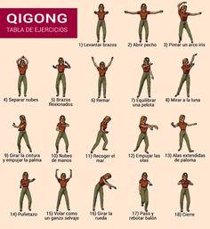 Tabla de ejercicios de Qigong