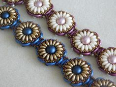 *P Beaded Bracelet Tutorial Beading Pattern by poetryinbeads on Etsy