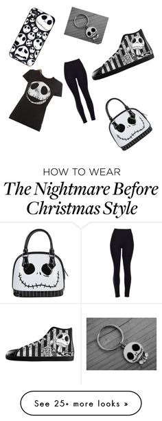 """""""Jack skellington"""" by linamarrocelli on Polyvore featuring women's clothing, women's fashion, women, female, woman, misses and juniors"""