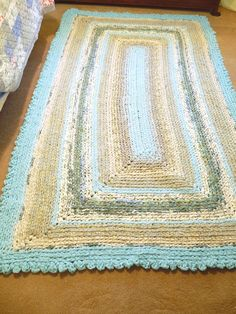 Handmade Cotton Crochet Rag Rug  CUSTOM by generationslampwork, $650.00