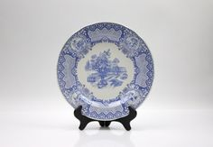 Spode Blue Room Collection / Seasons Plate, #vintage #spode #blueroomcollection #spodeseasons, www.PeriodElegance.etsy.com
