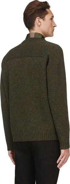 Valentino - Green Marled Sweater | SSENSE