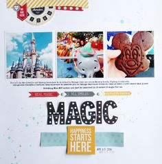 Disney Magic - Scrapbook.com - Made with the Simple Stories Say Cheese collection.