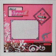 SHE'S A GYMNAST Gymnastics Memory Album Page White by theshadowbox, $15.00