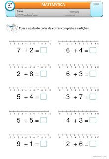 atividades de adição para 1o ano fundamental                                                                                                                                                                                 Mais Kindergarten Math Activities, Kindergarten Math Worksheets, School Worksheets, Preschool Math, Teaching Math, Singapore Math, Numbers For Kids, Math Word Problems, 1st Grade Math