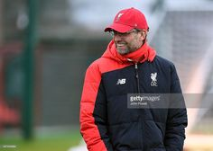 Jurgen Klopp manager of Liverpool during a training session at Melwood Training Ground on November 19, 2015 in Liverpool, England.