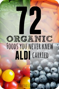 Are you wondering what to buy Organic at Aldi? Here is a list of over 70 organic products that they currently stock, as well as their prices!
