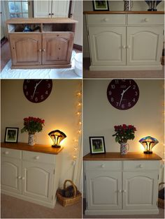Waxed Pine Sideboard painted with Annie Sloan Old Ochre