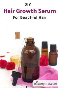 Hair Serum Regrowth #hairvideo #HairSerum Best Hair Oil, Castor Oil For Hair, Hair Breakage, Hair Follicles, Extreme Hair, Coconut Oil Uses, Oily Hair, Hair Serum, Grow Hair