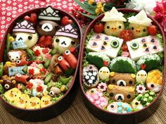 日本人のごはん/お弁当: Japanese meals/Bento in May. リラックマ弁当 Rilakkuma Bento If I could be this talented. I'd only eat cute food lmao! Japanese Bento Box, Japanese Food Art, Japanese Kids, Kawaii Bento, Cute Bento Boxes, Bento Box Lunch, Bento Food, Lunch Boxes, Food Food