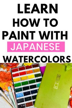 Learn everything you need to know about Japanese watercolor paints. Watercolor Journal, Watercolor Tips, Watercolour Tutorials, Watercolor Techniques, Watercolour Painting, Painting Techniques, Kuretake Gansai Tambi, Japanese Watercolor, Art Journal Techniques