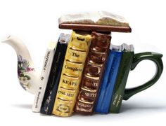 Poetry Books Teapot. This website has some adorable teapots. <3