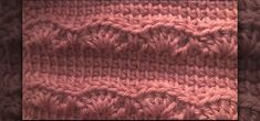 How to Crochet a scarf with a right-handed Afghan or Tunisian stich & a crochet shell