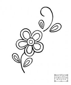 flower embroidery pattern - repeated as motif on a quilt??