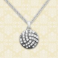 Abby Girl™ Crystal Volleyball Necklace