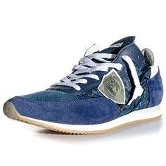 Philippe Model , Herren Sneaker Blau Blue/Sage, Blau - Blue/Sage - Größe: 40 - http://on-line-kaufen.de/philippe-model/40-eu-philippe-model-herren-sneaker-blau-blue-sage