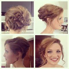 prom updo with braid and curls