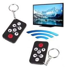 Great little tool for a backup remote for your TV. Keychain Wireless Smart Remote Mini Universal Controller
