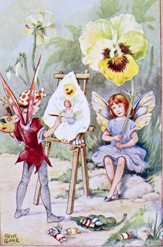 A Fairy Picture by Rene Cloke from March House Books Blog: Once upon a time; Postcards from my collection