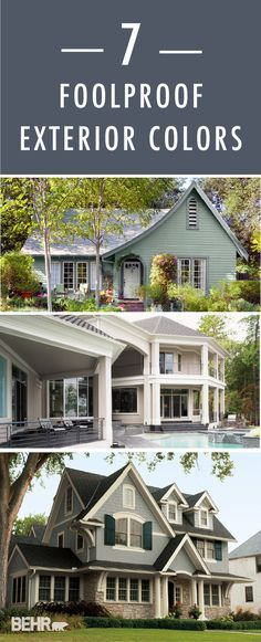 Here are 7 foolproof exterior colors that are bound to give your home a fresh new look. From cool, to neutral, to warm tones, find a BEHR color palette that fits your home's style the best.