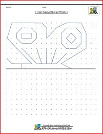geometry pictures 1 line symmetry butterfly This website has symmetry printable resources