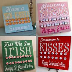 Countdown to Halloween {Hershey Kiss Board} - Infarrantly Creative My Funny Valentine, Valentine Day Kiss, Valentine Crafts, Holiday Crafts, Holiday Fun, Valentines, Holiday Ideas, Candy Crafts, Cute Crafts