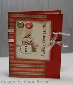 CTMH Love never melts Stamp: Flakey Friends set, Pear and Partridge Paper, Dimensional Elements In Color - Holiday.
