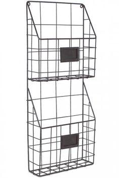 Mason Metal Hanging Rack - Wall Shelves & Hooks - Storage & Display | HomeDecorators.com