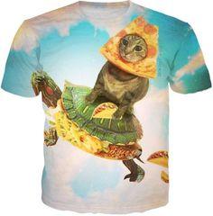 Pizza Cat On Turtle Taco Tshirt $24.95   #kitten #cat #kitties #cutecat #meow #mainecoon #cats #kittens #kitty #catlover Pizza Cat, Grumpy Cat, Keep Warm, Cat Ears, Cool Shirts, Cat Lovers, Turtle, Dinosaur Stuffed Animal