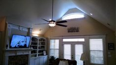 The Peyton #1289. http://www.dongardner.com/house-plan/1289/the-peyton. #GreatRoom #CathedralCeiling #Fireplace
