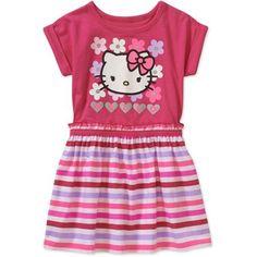 76f09177126 Hello Kitty - Hello Kitty Short Sleeve Dress - Walmart.com