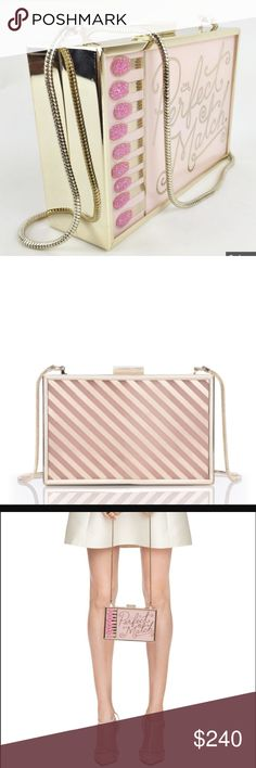 Kate Spade The Perfect Match Crossbody Clutch Come on...does this gem of a purse really need an explanation?? How fabulous can a clutch be? Brand new, never opened: shipped to me from Kate Spade...I'm a stay at home mom and, sadly, some luxuries have to go! kate spade Bags