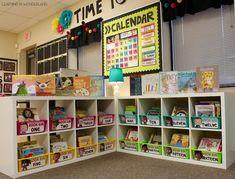 Using Ikea shelves for your classroom library! Head Start Classroom, Classroom Layout, Classroom Organisation, First Grade Classroom, New Classroom, Classroom Displays, Classroom Themes, Classroom Libraries, Classroom Design