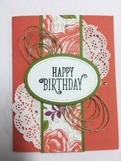 My Creative Corner!: Happy Birthday Gorgeous, Birthday Card, Stampin' Up!, Rubber Stamping, Handmade Cards