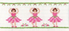 Flower Ballet 206 - Crosseyed Cricket design This smocking plate has 8 rows and includes design, instructions and a list of suggested DMC colors to use. Smocking Baby, Smocking Plates, Smocking Patterns, Sewing Patterns, Dress Patterns, Stitch Patterns, Baby Embroidery, Hand Embroidery Patterns, Ribbon Embroidery