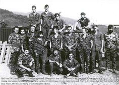 Members of SEAL Team Two, Seventh Platoon w/ guide in South Vietnam, 1970
