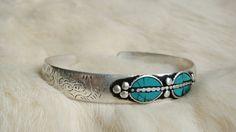 Turquoise bangle Turquoise bracelet White Metal Silver Miao Hill Tribe Native American Navajo Cherokee Tribal Indie Boho Bohemian Gypsy $11