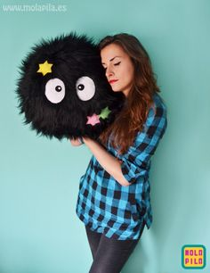 Big Soot Sprite Pillow Plush - http://ninjacosmico.com/12-kawaii-plushies-that-youll-love/5/