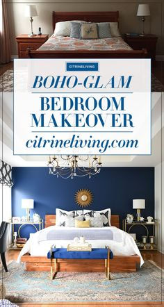 A gorgeous boho-glam bedroom makeover! Glam Bedroom, Bedroom Decor, Bedroom Ideas, Cozy Bedroom, Girls Bedroom, Bedroom Furniture, Cheap Apartment For Rent, Boho Glam Home, Retro Dining Chairs