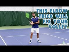 This Elbow Trick Will Fix Your Volley Tennis Lessons, Tennis Tips, Skill Training, Free Training, Tennis Techniques, Tennis Workout, Lawn Tennis, Fix You, Coaching