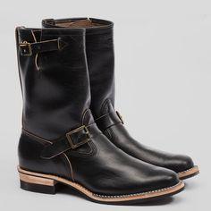 Engineer Boots - Black Horween CXL