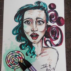 #2dart #pinup #lollypop #drawing #promarker #dibujo #markers #rotuladores #artwork #art #illustration #ilustración #shareandsmileproject (en Share and smile #bcn Gallery)