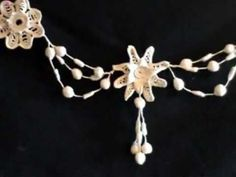 Irish Crochet Lace Flower Garland