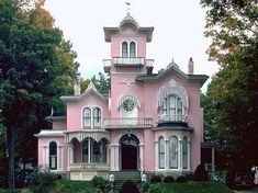 Pink Italianate mansion in Wellsville, NY that even has a ghost story to tell. Description from pinterest.com. I searched for this on bing.com/images