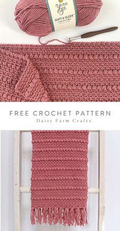 Free pattern crochet boho puff stripes blanket touch of peach baby blankets free crochet patterns Crochet Afghans, Crochet Scarves, Baby Blanket Crochet, Crochet Blankets, Crochet Blanket Stitches, Free Crochet Blanket Patterns, Puff Blanket, Modern Crochet Blanket, Boho Crochet Patterns